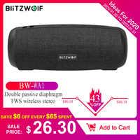 Blitzwolf BW-WA1 12 w subwoofer sem fio bluetooth 5.0 alto-falante duplo diafragma passivo tws estéreo tf cartão u disco alto-falante de áudio mic