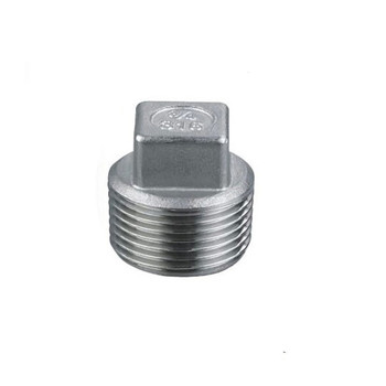 BSPT 1-1/4 DN32 Stainless Steel SS304 Threaded Male Malleable Square Head Pipe Plug For Water Gas Oil round head plug tube pipe fittings 32mm external diameter pipe plug cover cap stainless steel internal diameter 28 5mm 20pcs