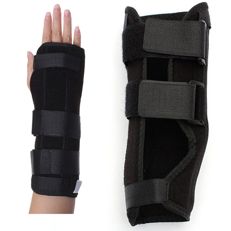 손목 관절 관절염 스포츠 염좌 통증 오른손 s에 대한 검은 손목 받침대 지원 부목