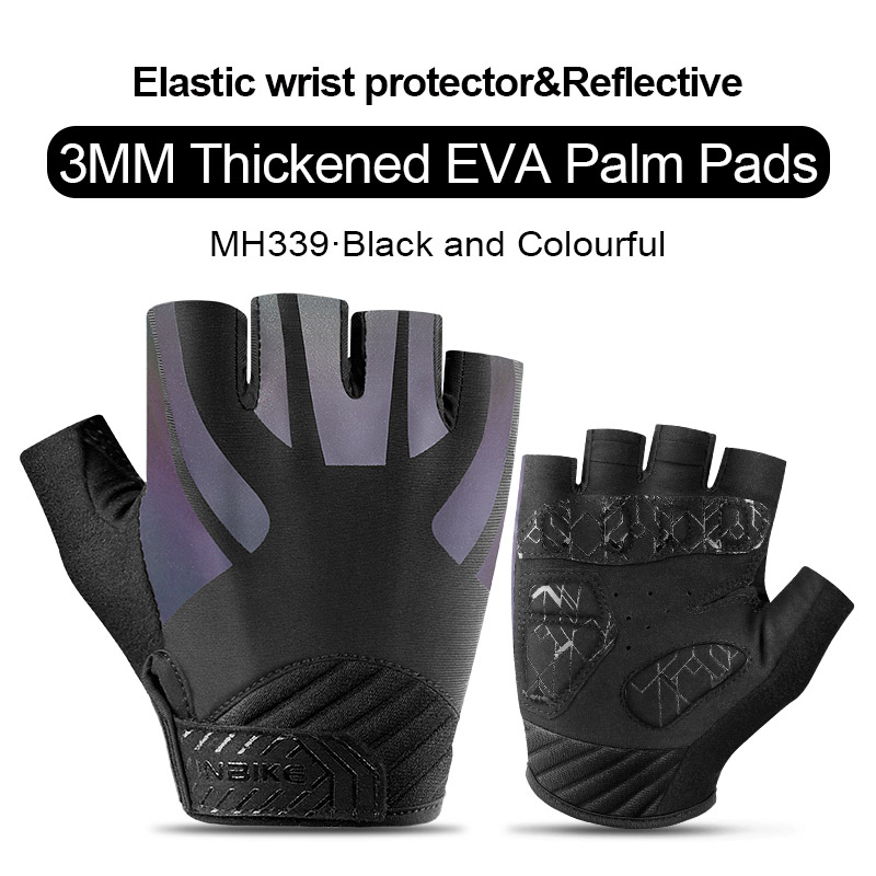 MH339-Colorful-INBIKE Summer Men Women Half Finger Shockproof Cycling Gloves