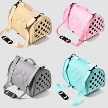 Pet Supplies Footprint Pet Travel Bag Portable Outdoor  Dog Cat Foldable Travel Bag Puppy Carry Mesh Shoulder Bag Honden Tas недорого