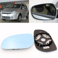 For Chery  A1 Car Side View Door Wide-angle Rearview Mirror Blue Glass With Base Heated 2pcs