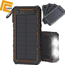 CHDX 15000mAh Solar Panel Mobile Phone charger USB Power Bank Solar Panel Charger for Mobile Phone Pad USB Charger New itian a1 15000mah qc3 0 power bank