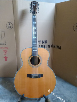 free shipping ebony F512 lefty guitar jumbo 12 strings acoustic electric solid guitar guild style left handed acoustic guitar free shipping chinese factory custom 2017 100% new mt d 28 acoustic guitar matte finish neck backside nature color 323