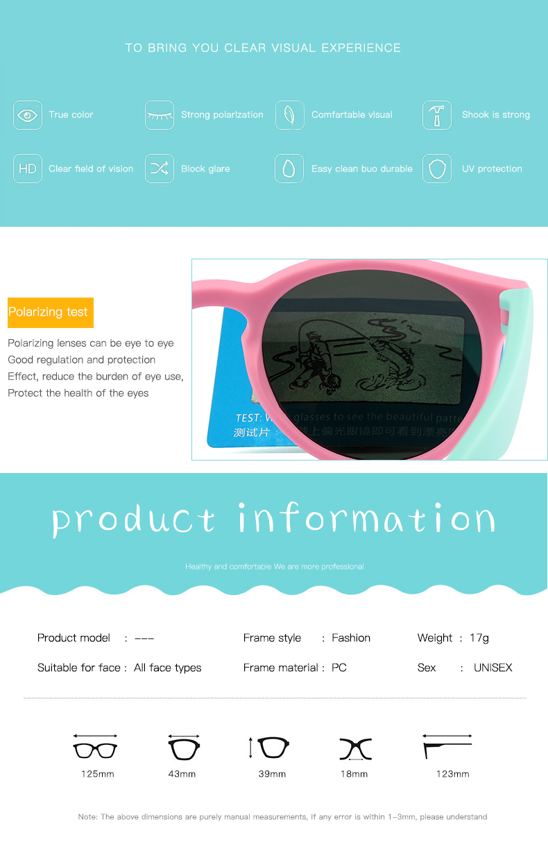 H5731db18f03645e98bca8af01ea4ca256 - WarBlade New Kids Polarized Sunglasses Round Children Sun Glasses Boys Girl Safety Glasses Baby Infant Shades Eyewear UV400