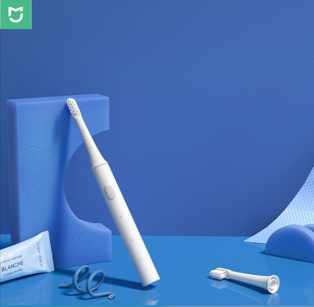 Оригинал Xiao mi jia T100 mi умная электрическая зубная щетка двухскоростной режим очистки Xio mi HOME 30 день последняя машина 46 г зубная щетка