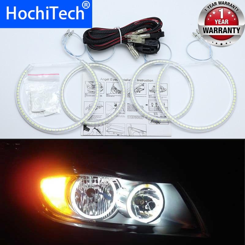 For BMW 3 Series E90 2005-2008 Ultra Bright SMD White LED Angel Eyes 2600LM 12V Halo Ring Kit Daytime Running Light