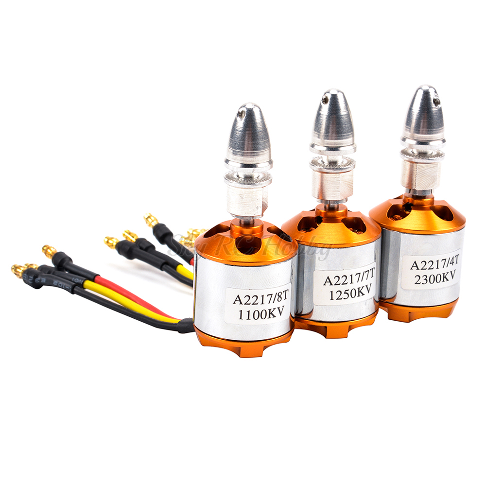 A2217 2217 1100KV / <font><b>1250KV</b></font> / 2300KV RC Brushless Outrunner Motor for 4 Axis UFO RC Fixed Wing Plane Helicopter Multi Quadcopter image