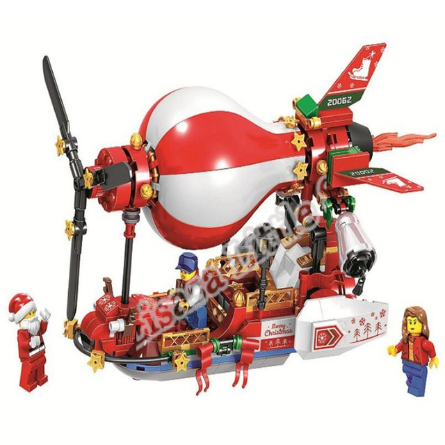 2019 New Christmas Sets Village Train Hot Air Balloon Compatible With Legoinglys Model Building Blocks Bricks Toys Gift No Box 3