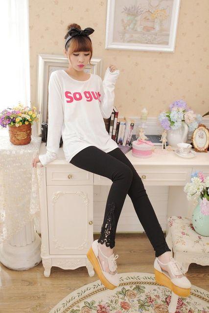 Soft Stretchy Jeggings Slim Pencil Summer New Flower Brief Lady Sexy Fashion Lace Women Lady Skinny Leggings 6
