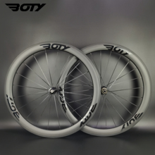 Road-Bike-Light Bicycle-Wheelset 700C Tubeless/tubular 50mm Carbon BOTY with 3k Matte-Finish