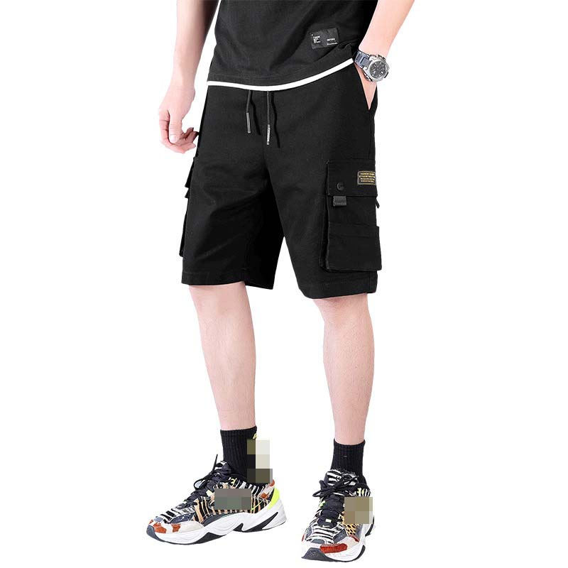 High Quality  Mens Cotton Straight Cargo Shorts Summer Men Shorts Homme Stylish Fashion Casual Beach Solid Color Short Trousers