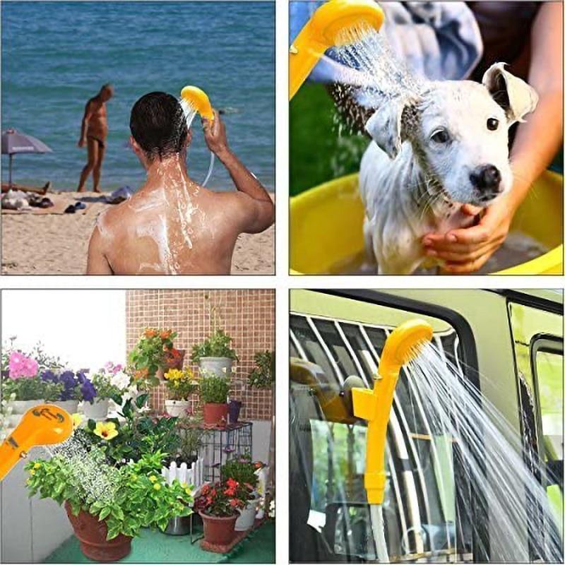 Image 5 - 12V Portable Travel Camping ducha Car Pet Dog Shower 2020 Washer Electric Pump Outdoor Hiking KitPumps   -