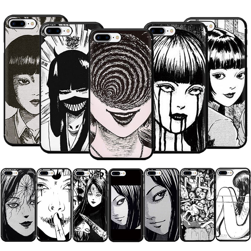 horror comic junji ito Tomie Tees Soft Phone Cover Case for iphone SE 2020 5 5S 6 6S Plus 7 8 Plus X XR XS 11 Pro Max(China)