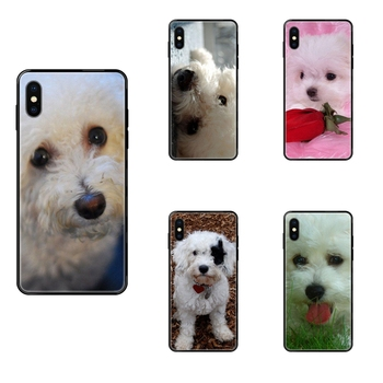 For Huawei Honor Mate Play V10 View 10 20 20X 30 Lite Pro Y3 Y5 Y9 Nova 3 3i Pro TPU Black Soft Phone Cover Case Bichon Frise image