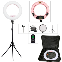 Yidoblo FE 480II 원격 제어 Led 링 라이트 램프 키트 LCD 디스플레이 96W 5600K Led 메이크업 Selfie 비디오 스튜디오 라이트 유튜브