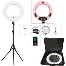Yidoblo FE 480II pilot lampa pierścieniowa Led zestaw lampowy wyświetlacz LCD 96W 5600K Led do makijażu Selfie lampa studyjna wideo na Youtube