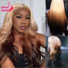 شعر مستعار ريمي طبيعي ، شعر بشري ، مظلل ، أشقر ، جذور 613 ، أطراف سوداء ، مموج ، 3 ألوان ، HD ، دانتيل شفاف ، منتف مسبقًا