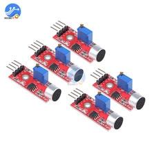 5pcs Sensitive Sound Microphone Sensor Detection Module For Arduino AVR PIC