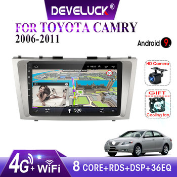Android 9.0 2 din Car Radio Multimedia Video Player Navigation GPS For Toyota Camry 6 XV 40 50 2006 - 2011 8 Octa-Core no dvd image