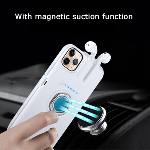 Image 3 - עבור iPhone SE 2020 11 פרו מקס Xs Max Xr 8 7 6 6s בתוספת מקרה אצבע טבעת מחזיק טעינת כיסוי עבור AirPods 1 2 Bluetooth אוזניות