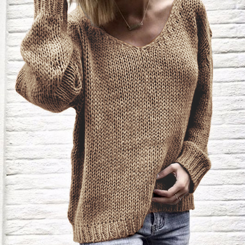 Women  Color  Basic Knitted Turtleneck Sweater Female Solid Turtleneck Collar Pullovers Warm