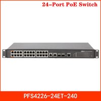 Dahua 24 Port PoE Switch PFS4226 24ET 240 250 Meters Long Distance PoE transmission Non blocking Support PoE PoE+ Hi PoE