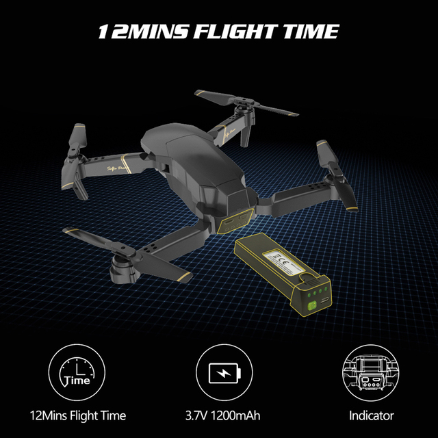 Global Drone EXA Foldable RC Drones with Camera HD 1080P Mini Quadcopter High Hold Helicopter