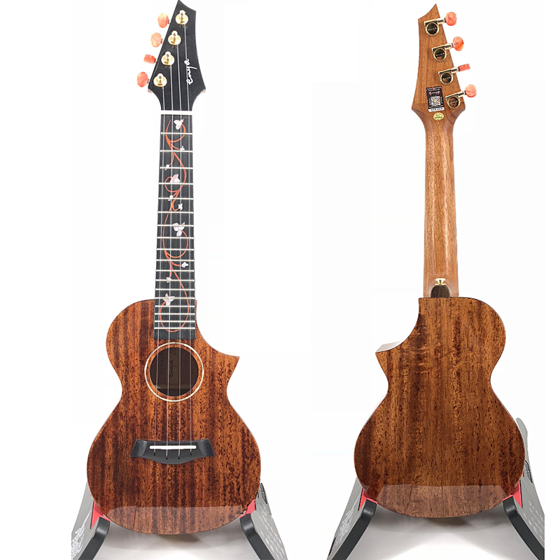 Solid Mahogany Ukulele With Electric Pickup Concert Ukuleles Tenor Hawaii Guitar Enya M6 Ukelele Musical Instruments