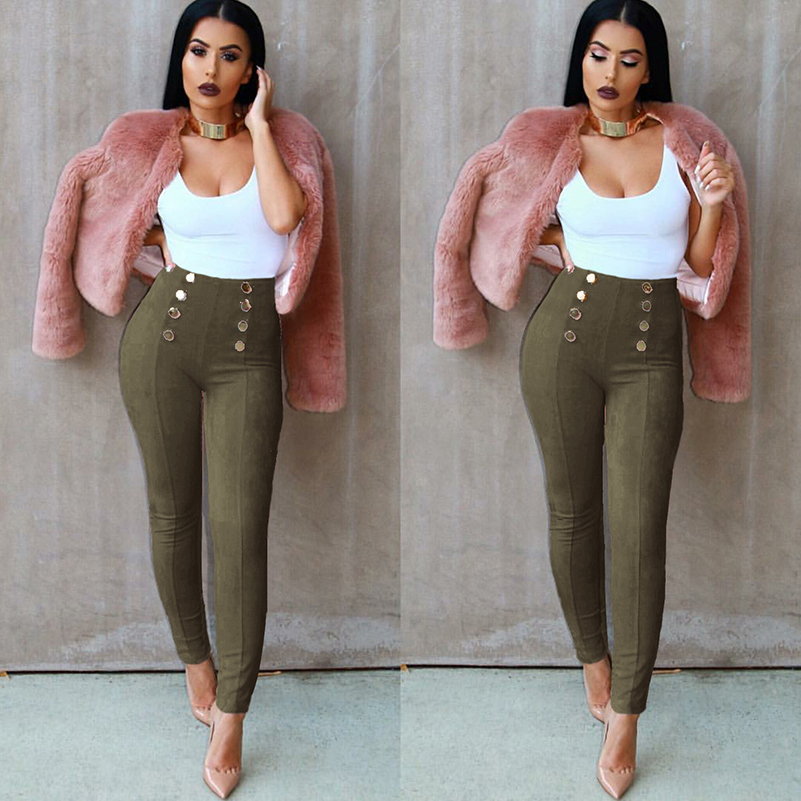 High Elastic Jumpsuit Pencil Waist Solid Summer Pants 2020 Pants Long Jeans New Fashion Women Fashion Skinny Waist For Women