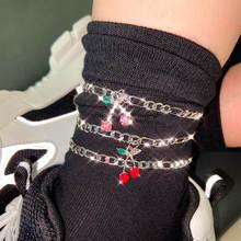 Flatfoosie 2 шт/компл ретро панк Серебристый браслет на ногу