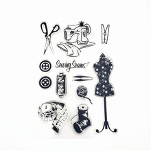 JCarter Sewing Machine Rubber Stamps Tailor Scrapbooking Clear Stamp Silicone Seals Craft Stencil Album Card Make Decor Sheet