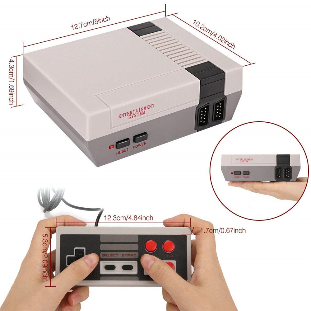 Retro Mini TV Game Console 8 Bit Handheld Game Player Kids Video Gaming Console Built-In 500/620 Classic Games Gifts retro game