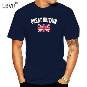 Camiseta de gran oferta para hombre, camiseta desgastada con la bandera de Gran Bretaña, Jack de la Unión Británica, 2018