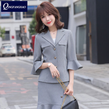 цена Fashionable little suit female 2020 new Korean version of the sister's temperament light and mature style two-piece suit онлайн в 2017 году
