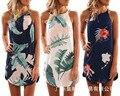 Хит продаж, женское летнее платье с принтом листьев в Европе и Америке