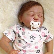Boutique Rebron baby silikon puppe handamde gefüllte körper detaillierte farbe reborn baby neugeborenen puppen sammeln kunst hohe qualität