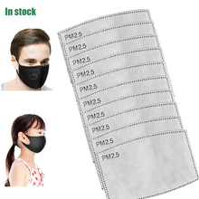10/50/100pcs/Lot For Kids/Adulto 5 Capas PM2.5 Papel de filtro Anti Haze mascarilla bucal