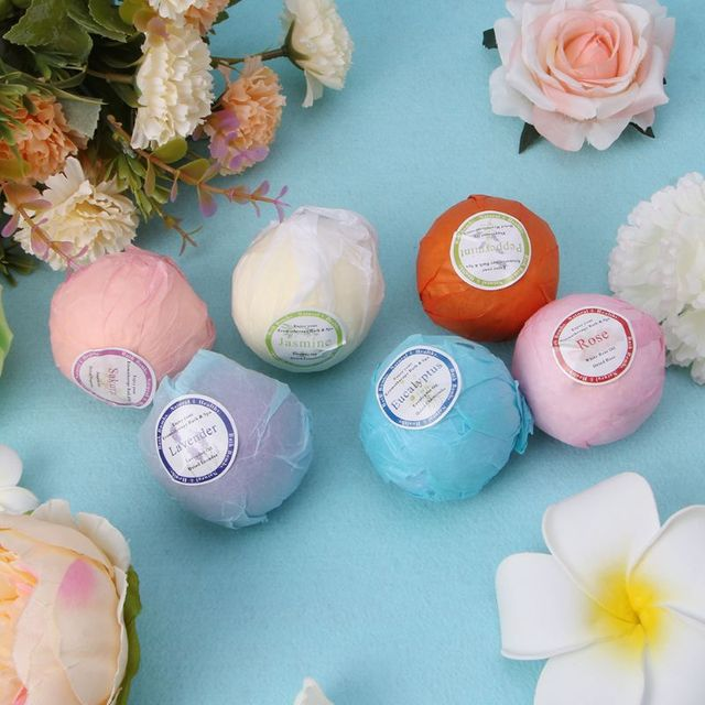 Organic Bath Bombs Bubble Bath Salts Essential Oil Handmade SPA Stress Relief 4