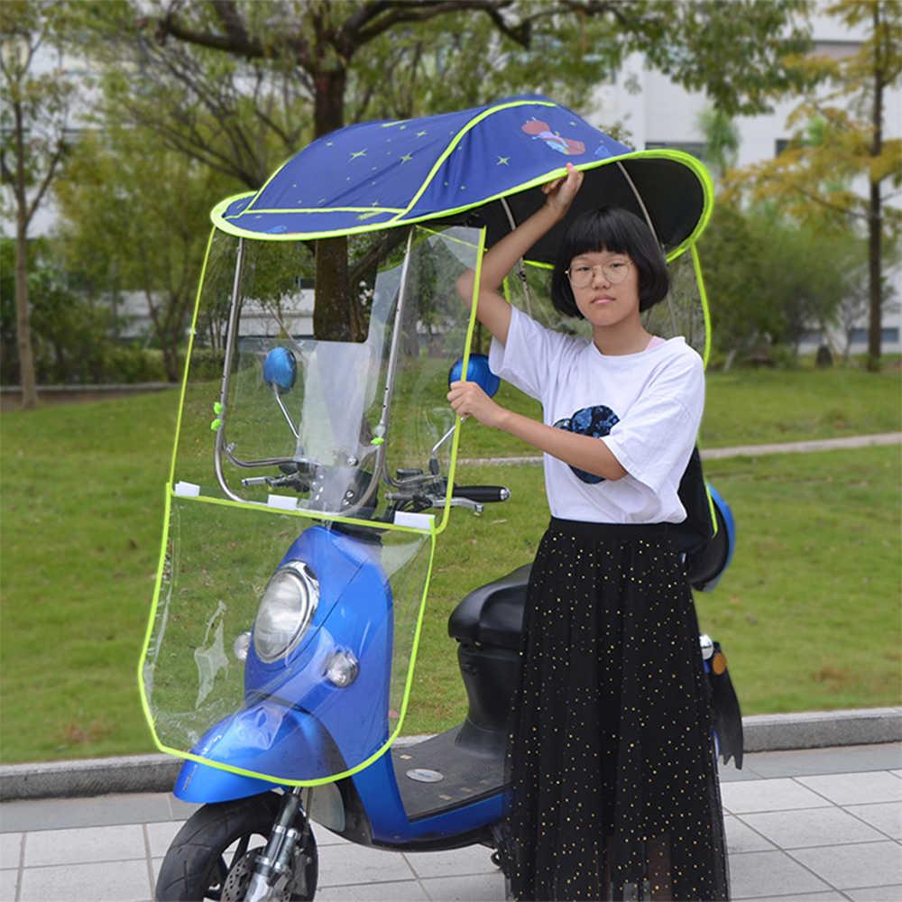 2019 New Universal Motorcycle Umbrella Sun Shade Rain Cover Electric Car  Waterproof Umbrella Canopy High Quality|Accessories| - AliExpress