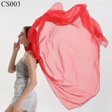 Чистый цвет размера плюс толстый шарф для танцев женский из