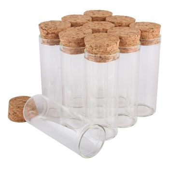 24pcs 40ml Size 30*80mm Test Tube with Cork Stopper Spice Bottles Container Jars Vials DIY Craft