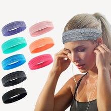 Bandes de sueur élastiques absorbantes, pour Yoga, course à pied, Fitness, bandeau de sport, gymnastique, basket-ball, renfort extensible enveloppe cheveux, 1 pièce