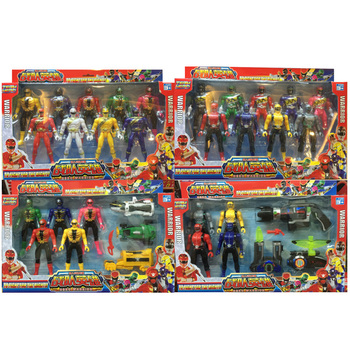 Juspion Super Warrior Set Dinosaur Rangers Monster Tokusatsu Sentai 17cm Joint Movable Action Figure Collection Boy Toy altman soft glue ultraman monster superman toy king gogira action figure collection model children s doll movement joint movable
