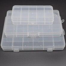 Caixa de armazenamento fixa transparente, caixa de plástico transparente pp, acessórios de joias, caixa de peças e componentes de caixa de classificação 10 \ 13 \ 24 caixa de embalagem