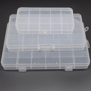 10\13\24 grid fixed storage box transparent PP plastic box jewelry accessories box parts sorting box components packaging box