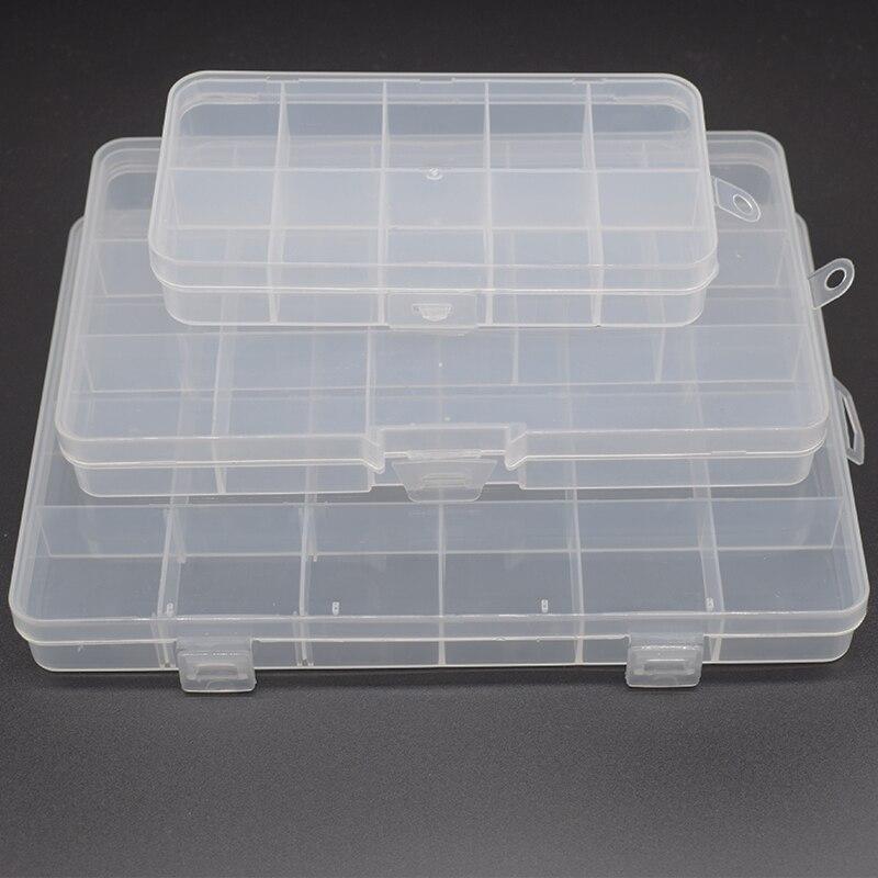 10 \ 13 \ 24 siatka stały schowek przezroczysty PP plastik box biżuteria zestaw akcesoriów części pudełko do sortowania komponenty pudełeczko