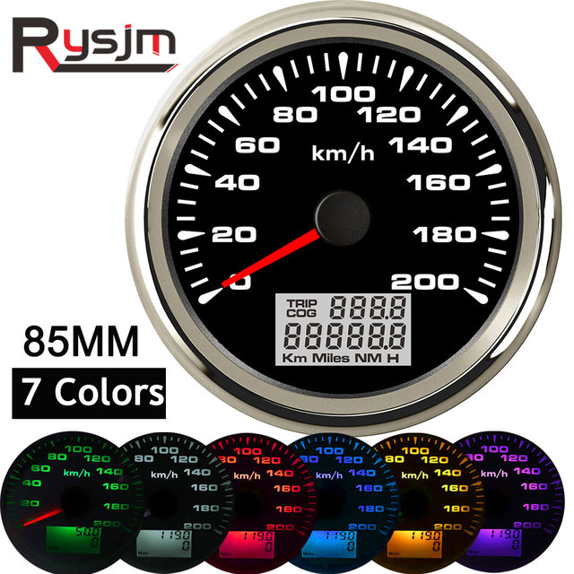 7สีBacklight GPS Speedometer 85มม.รถยนต์เครื่องวัดระยะทางAuto Tuningเครื่องมือTachometerแผงSnelheidsmeter MotorสำหรับBmw E46