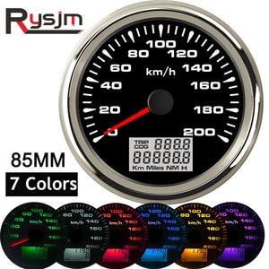 Image 1 - 7 צבעים תאורה אחורית GPS מד מהירות 85mm רכב מד מרחק אוטומטי כוונון טכומטר מכשיר פנל snelheidsmeter מנוע עבור bmw e46