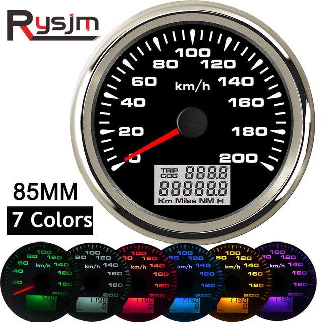 7 צבעים תאורה אחורית GPS מד מהירות 85mm רכב מד מרחק אוטומטי כוונון טכומטר מכשיר פנל snelheidsmeter מנוע עבור bmw e46